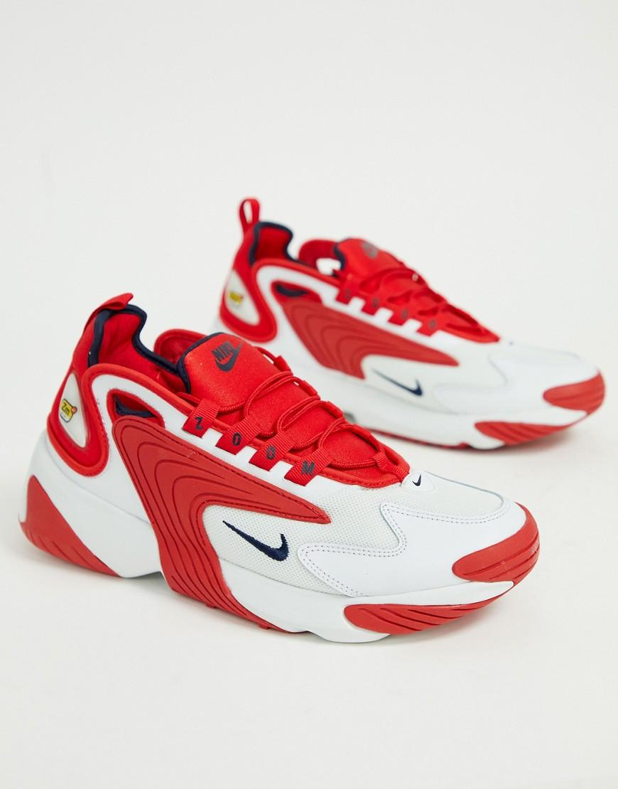 fe Respectivamente Cordelia  Nike Zoom 2k Trainers in Red / White (Red) for Men - Lyst