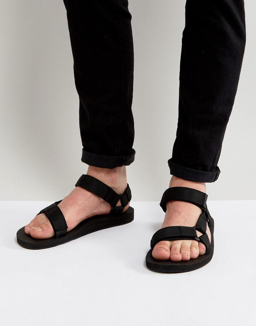 dcbb7b9b3d9aa Teva Original Universal Urban Tech Sandals In Black in Black for Men ...