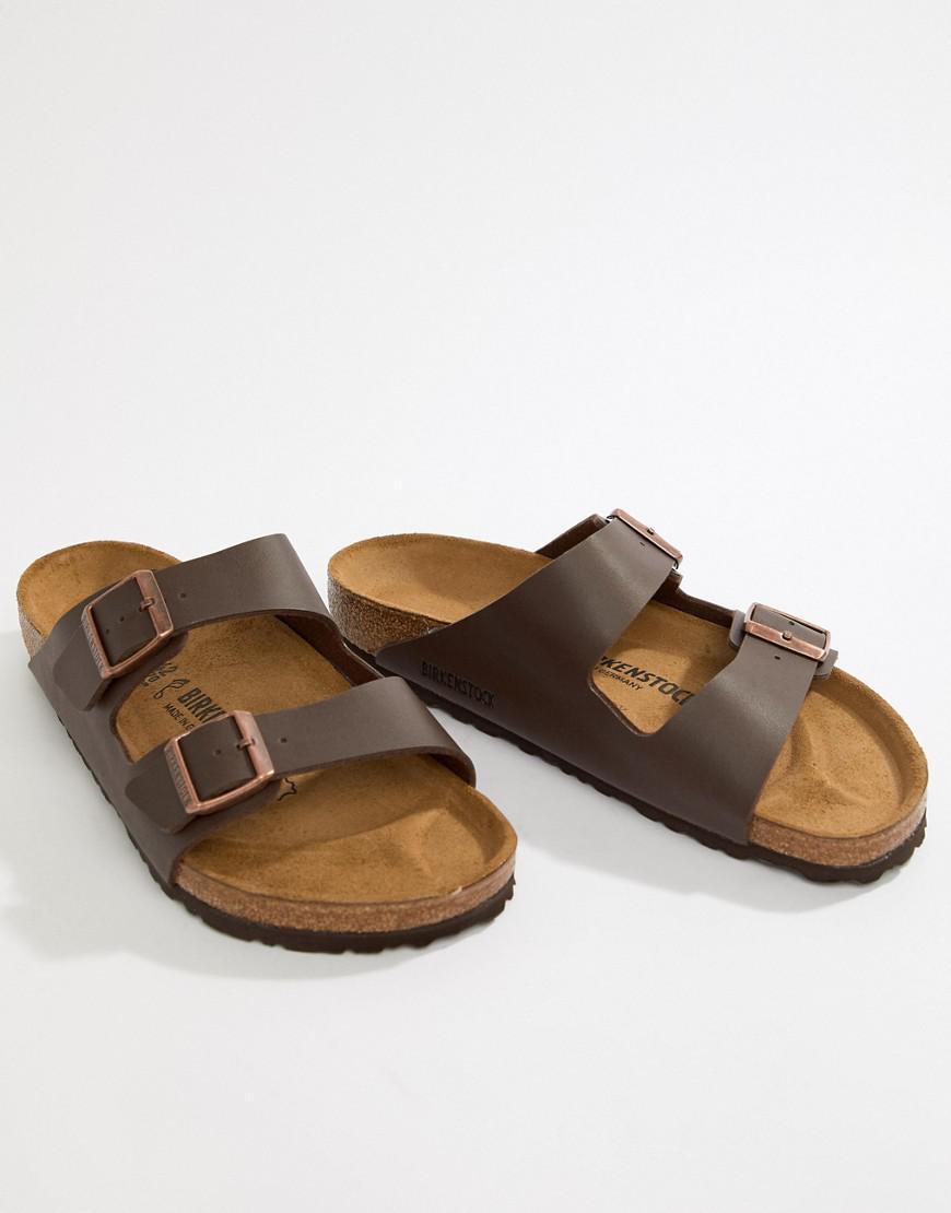 87ea121fb40b Birkenstock Arizona Birko-flor Sandals In Dark Brown in Brown for ...