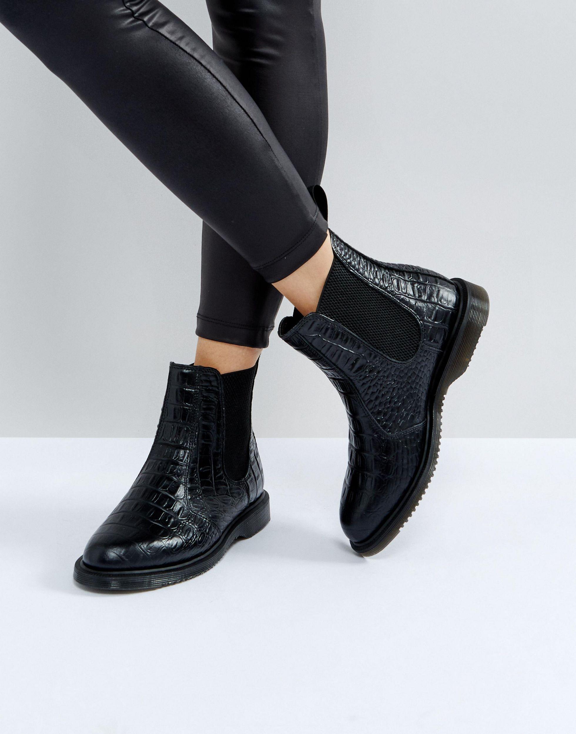 Kensington Flora Croco Chelsea Boots