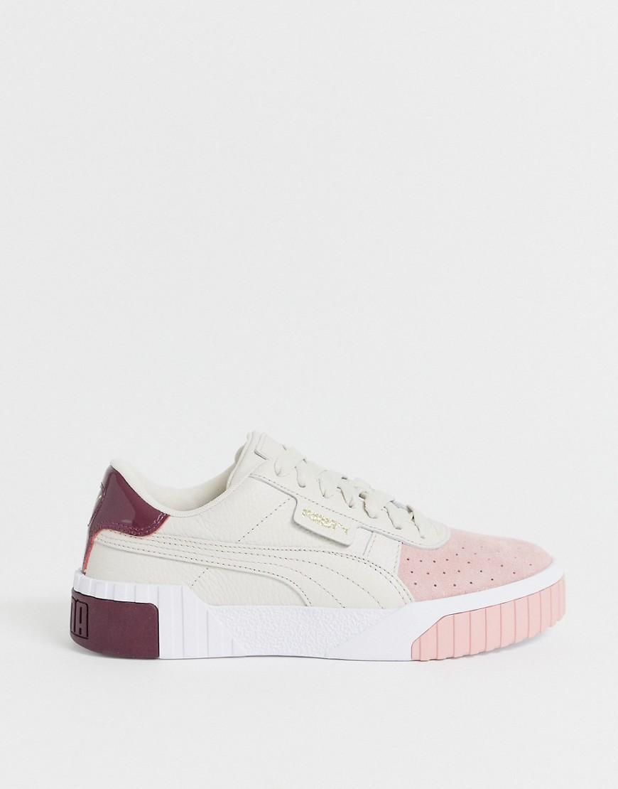 PUMA Gummi Cali Remix Sneaker mit Farbblockdesign in Creme