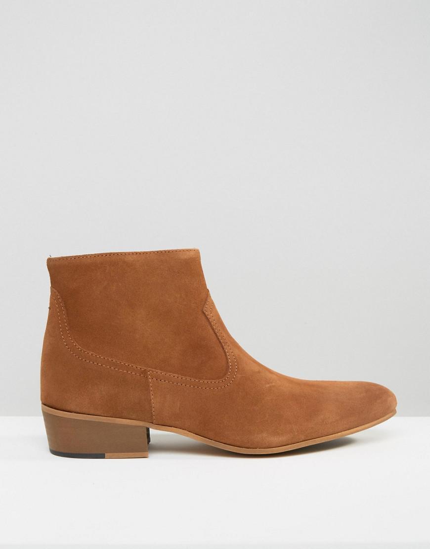 KG by Kurt Geiger Montana Suede Zip Boots in Brown