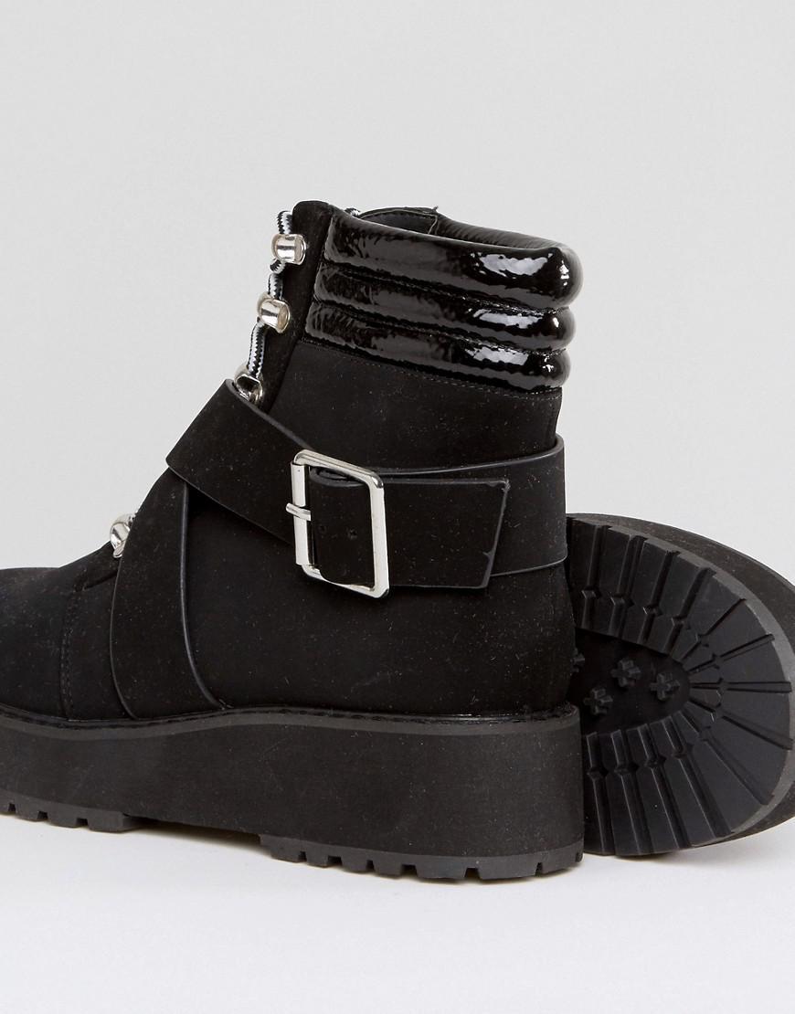 7766121f691 ASOS Black Athlete Hiker Boots