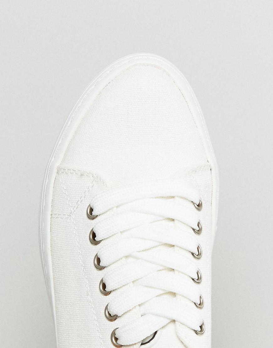 Sixtyseven Canvas Flatform Sneaker in White