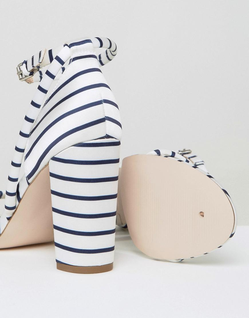 Lyst Heeled Stripes There Barely Sandals Office wXnOP8k0