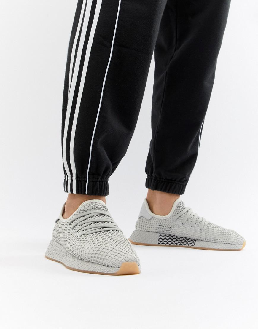 meet 5d41b 1b7ff adidas Originals. Men s Deerupt Runner Sneakers In Gray Cq2628