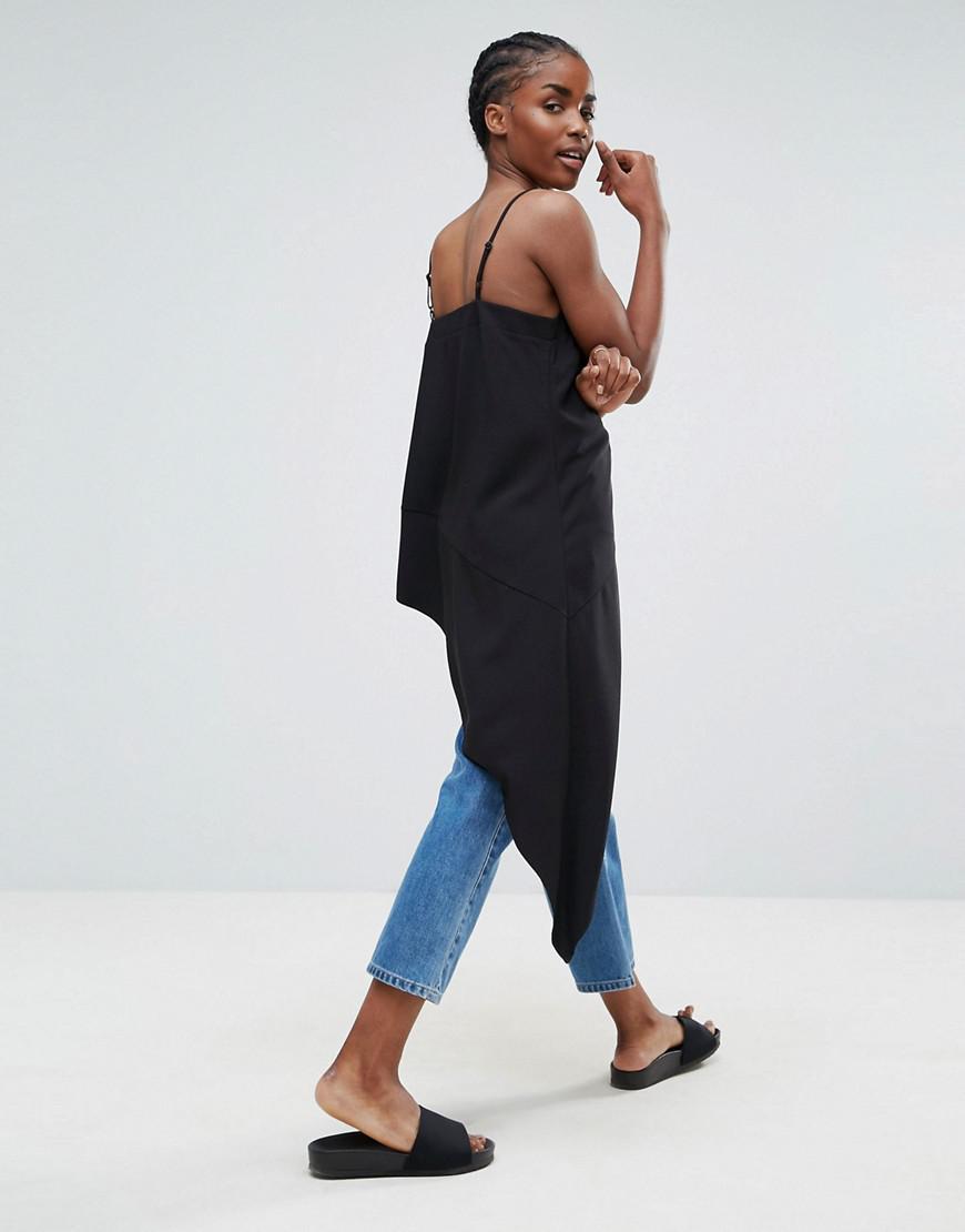 Asos Ultimate Asymmetric Cami in Black