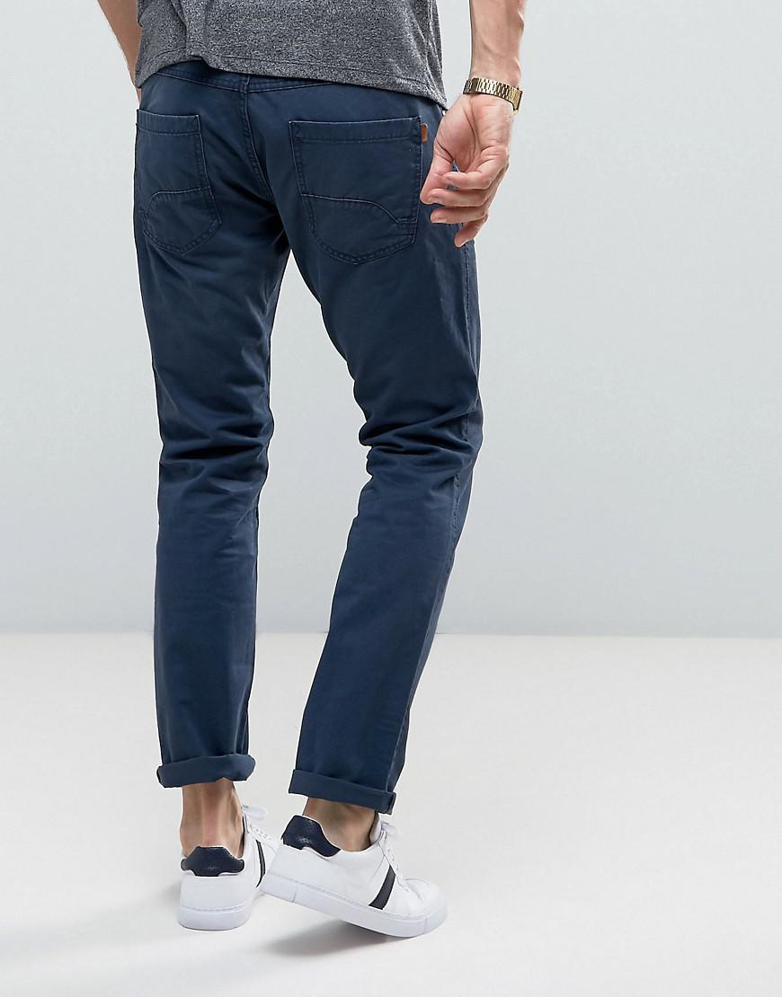 Esprit Cotton 5 Pocket Casual Trousers In Navy in Blue for Men