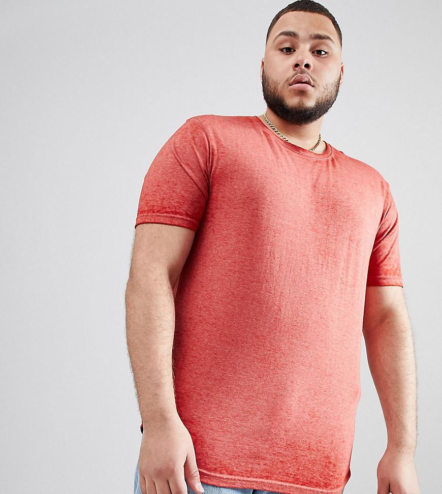 Longline Burnout T-Shirt - Red D-Struct Sale With Mastercard pkNd9h