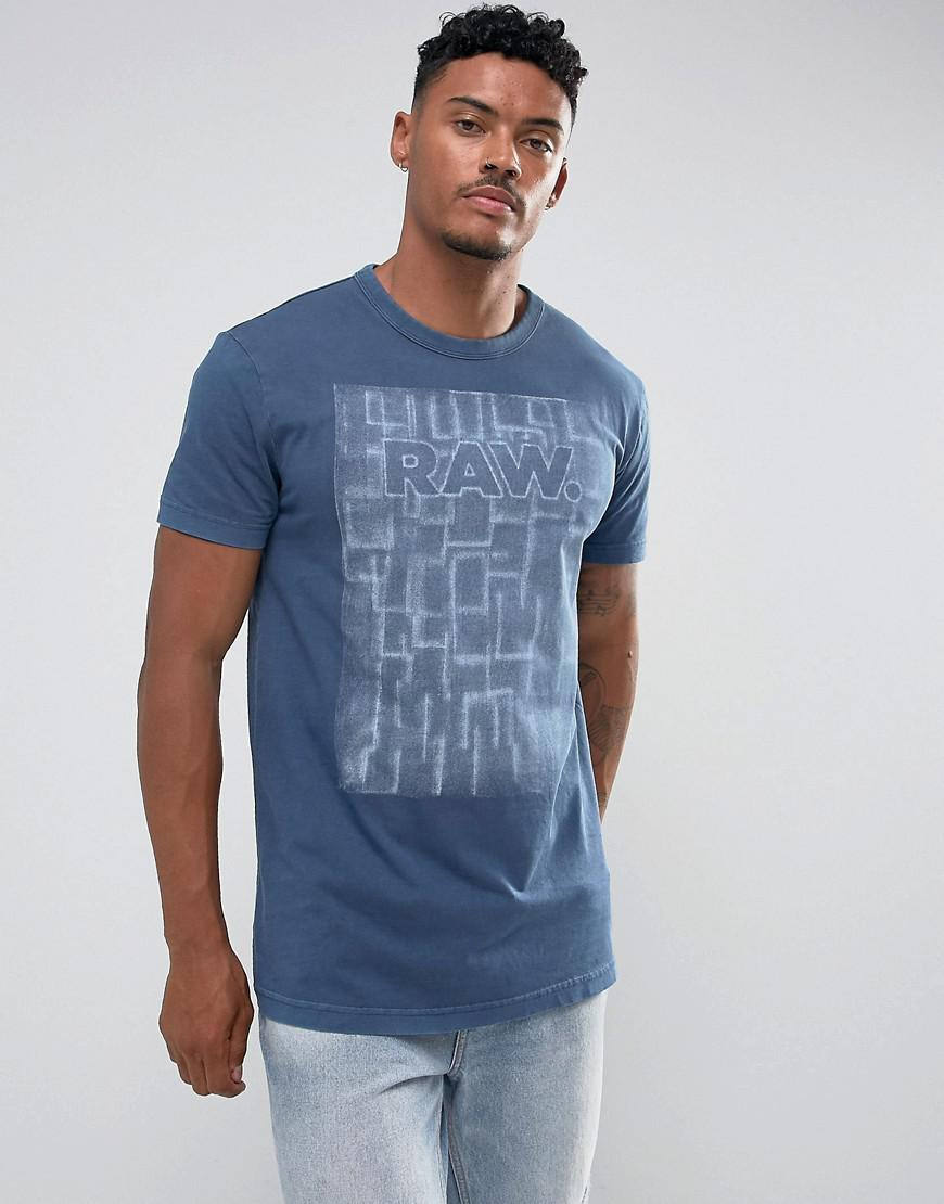 lyst g star raw maeevor relaxed t shirt in blue for men. Black Bedroom Furniture Sets. Home Design Ideas