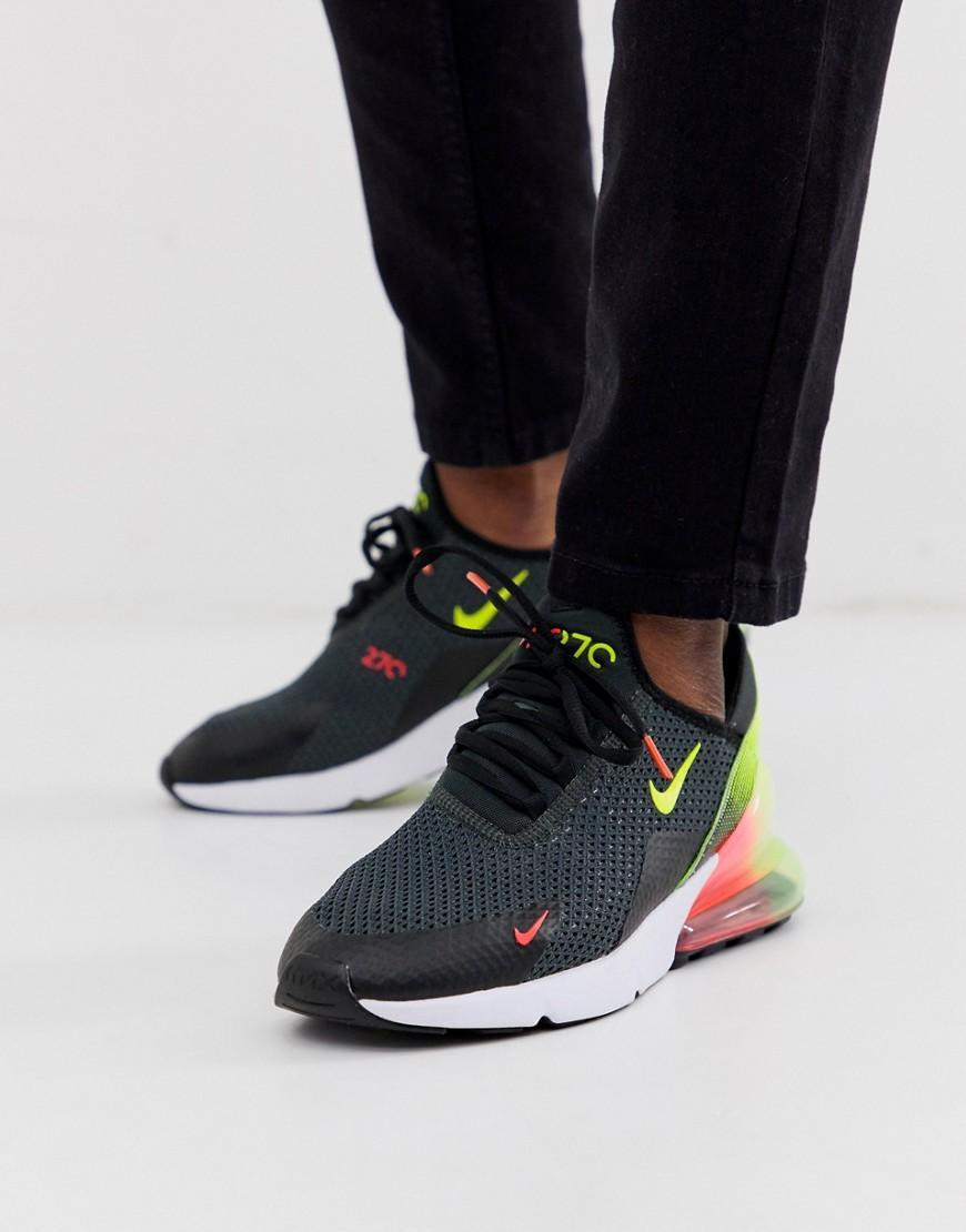 Zapatillas en negro y verde Air Max 270 Retro Future Nike de Caucho de color Rojo para hombre