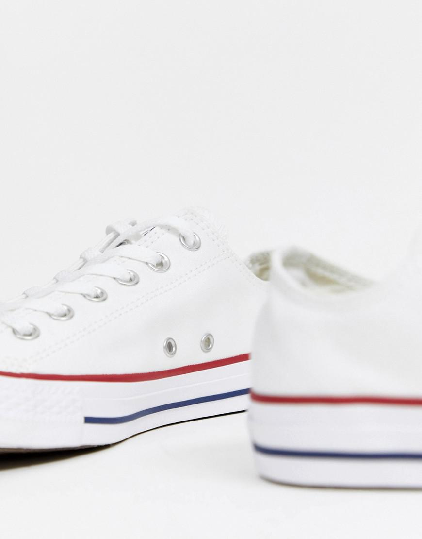 3b47f717410041 Lyst - Converse Chuck Taylor All Star Ox Plimsolls In White M7652c in White  for Men