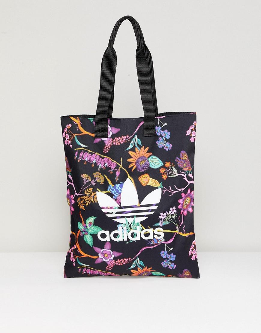 945 artículo Expresamente  adidas Originals Floral Print Reversible Tote Bag in Black - Lyst