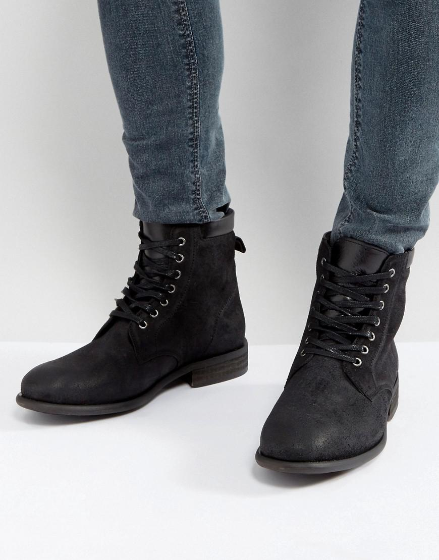 f28708ab33e8 Lyst - ALDO Derrian Leather Lace Up Boots In Black in Black for Men