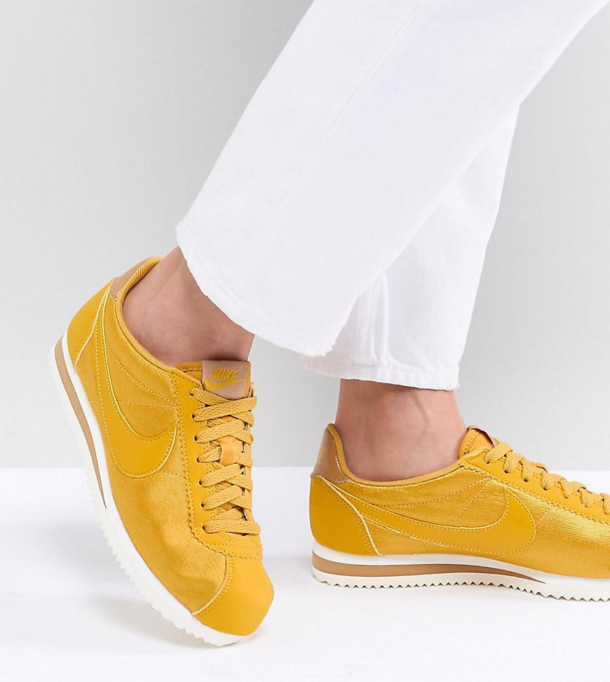 nike trainers cortez yellow
