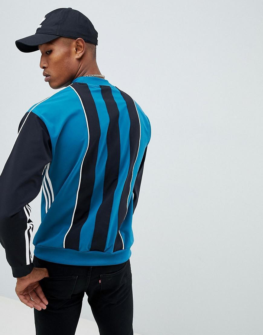 adidas Originals Originals Authentic - Gestreepte Sweater In Blauw Dh3835 in het Blauw voor heren