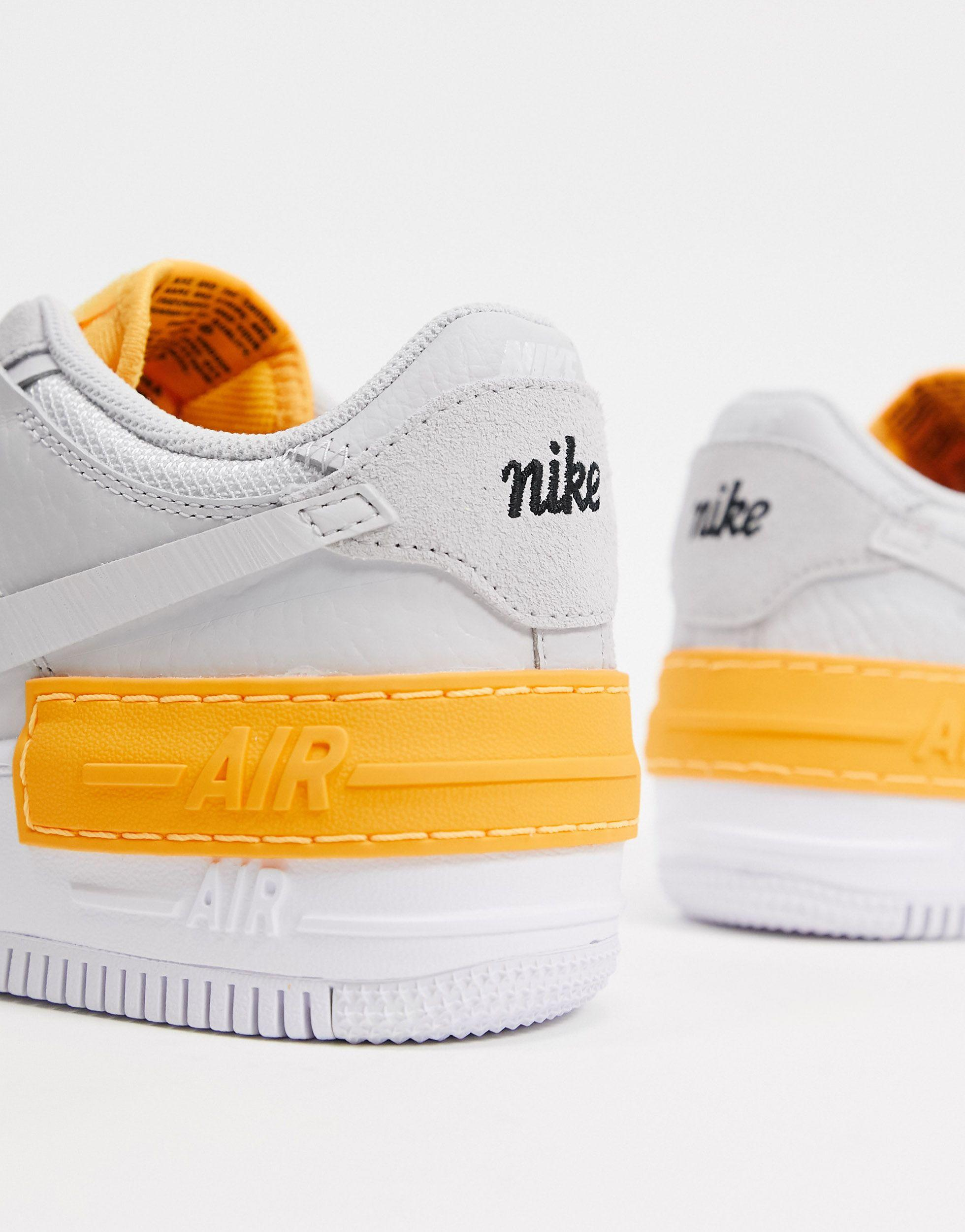 Nike Air Force 1 Shadow Shoe In Grey Grey Save 56 Lyst This iteration comes in a vast grey colourway with retro orange accents. air force 1 shadow shoe