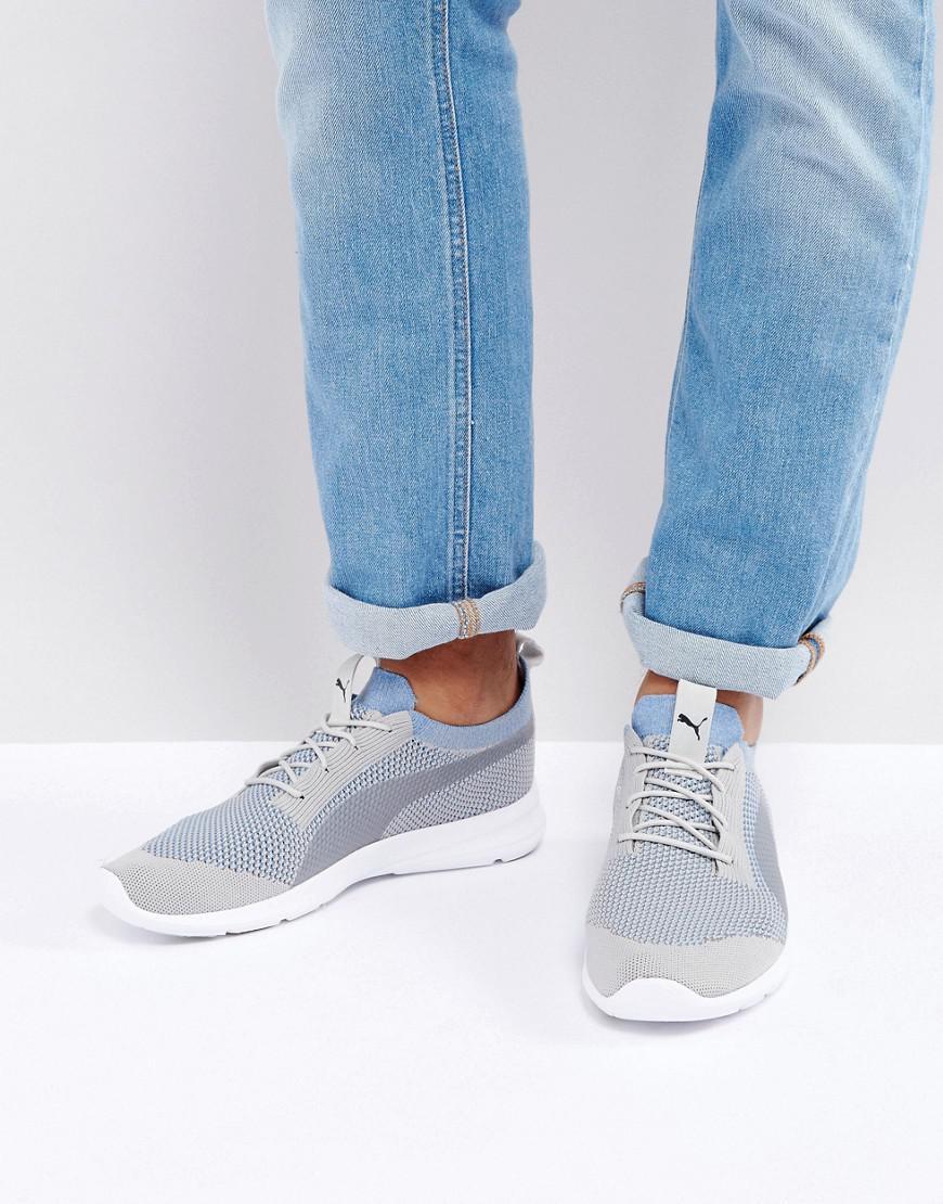 76d8b9776c3 PUMA Duplex Evo Knit Trainer In Grey in Gray for Men - Lyst