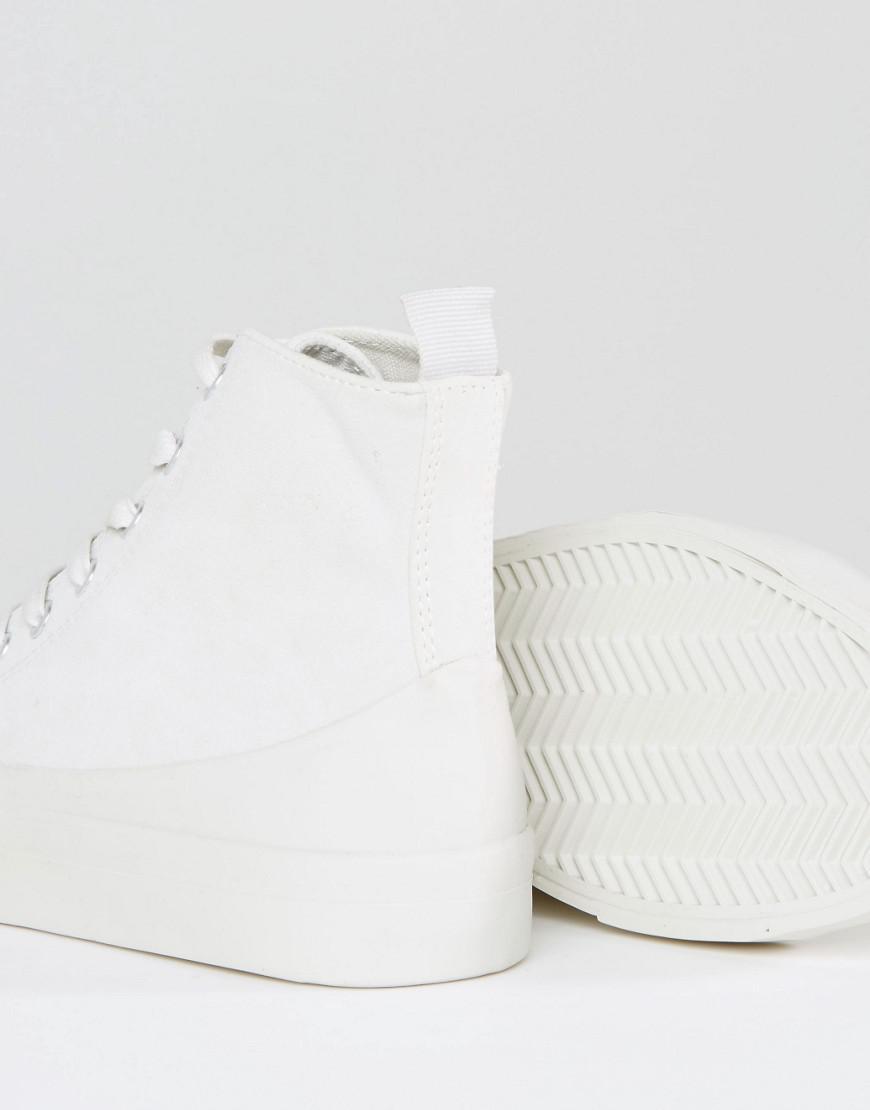 ASOS Denim Doola High Top Sneakers in Grey (Grey)