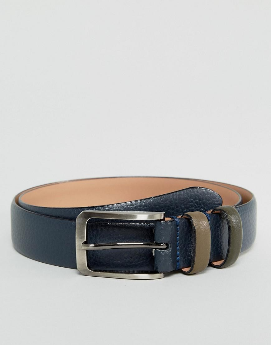 Ted Baker Mens Shrubs Coloured Keeper Leather Belt