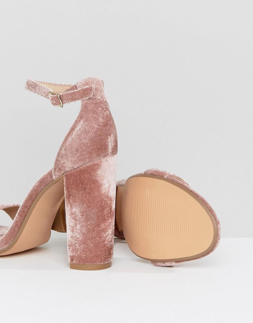 8dd68b68cf4 Steve Madden Carrson Blush Velvet Barely There Sandals in Pink - Lyst