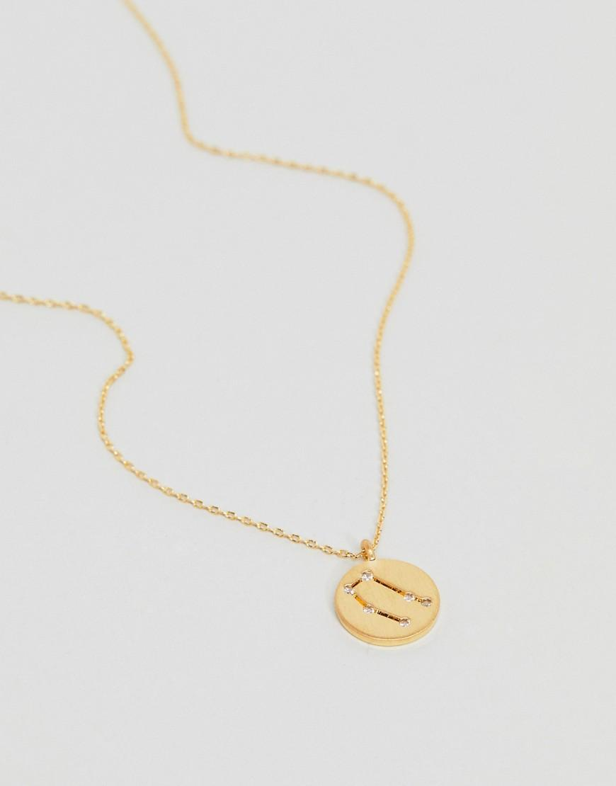 Accessorize Gemini Constellation Gold Pendant in Metallic