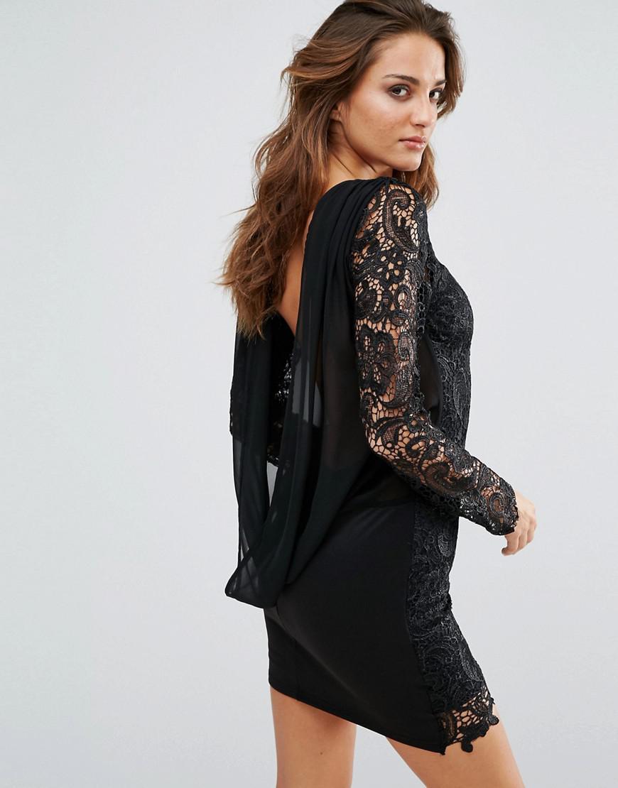 Black cowl back dress
