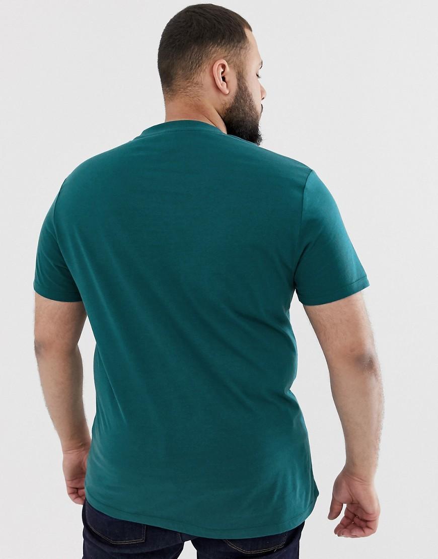 ASOS Katoen Plus - Organisch T-shirt Met Ronde Hals in het Groen voor heren