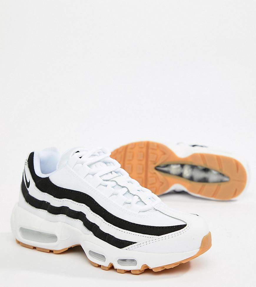 premium selection temperament shoes recognized brands White With Black Accent Air Max 95 Trainers