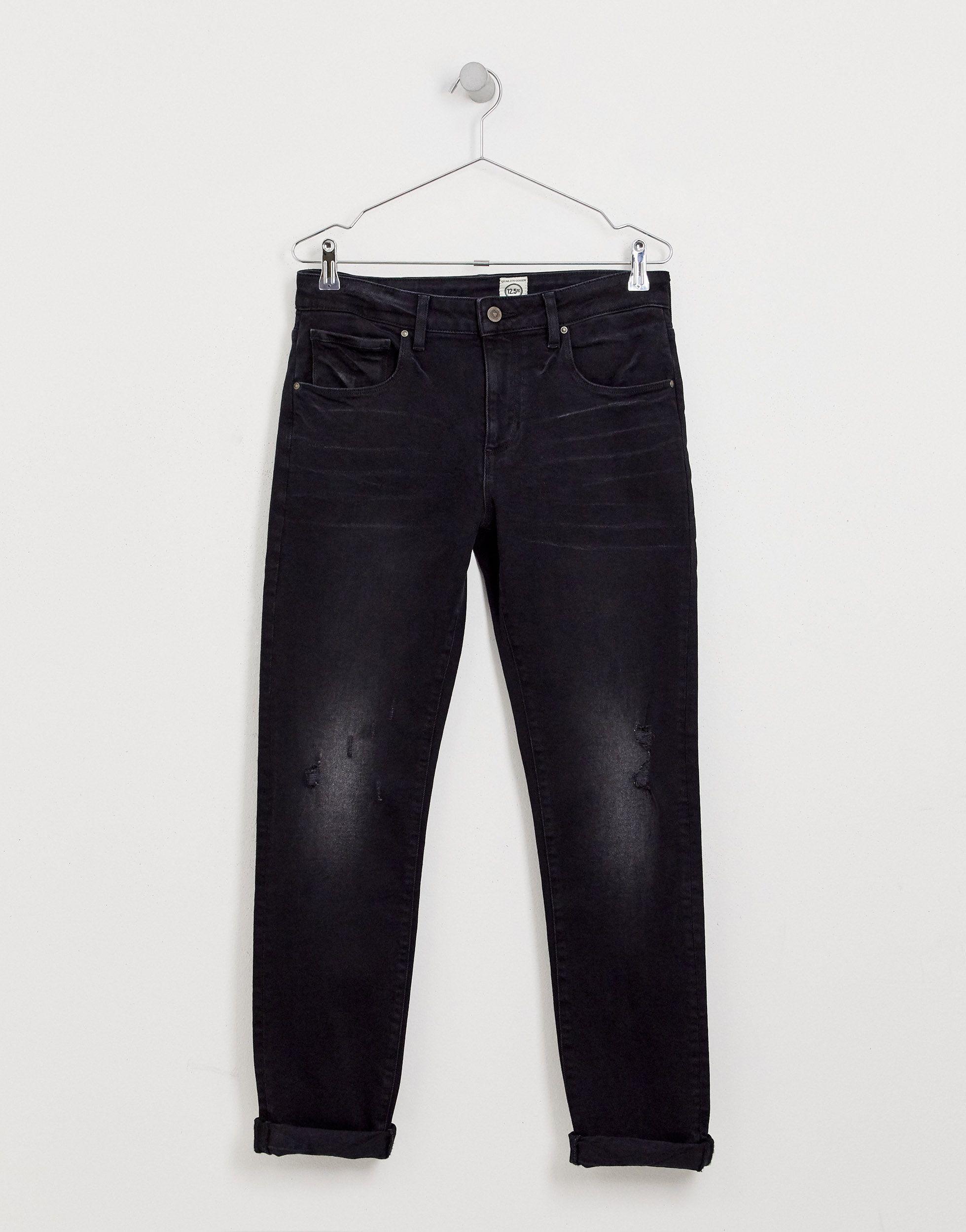 ASOS Denim 12.5oz Smalle Jeans in het Zwart voor heren