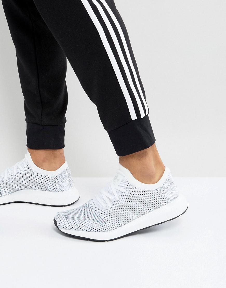 09f4738d6 Lyst - adidas Originals Swift Run Primeknit Trainers In White Cg4126 ...