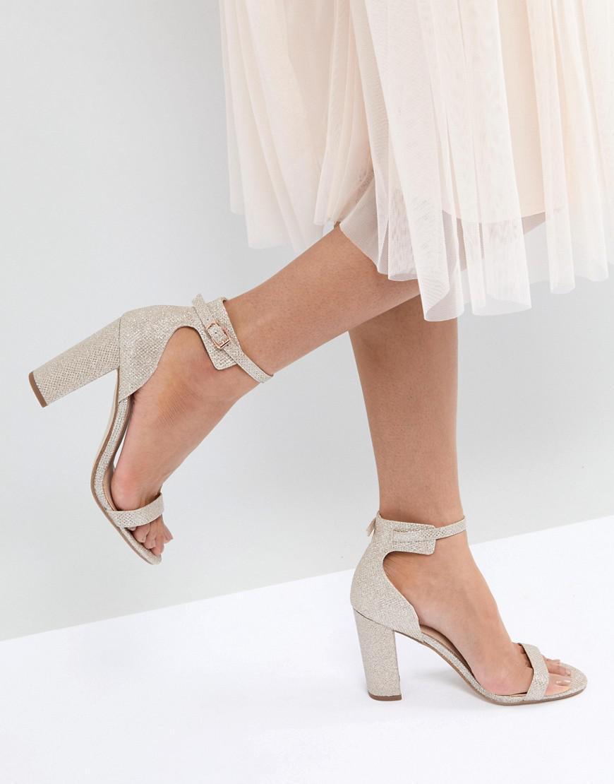917275839e7 Office Hip Heeled Sandals in Metallic - Lyst