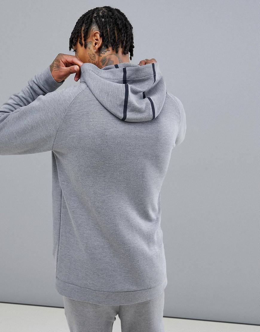 2a06c5bb7357 Calvin Klein Zip-thru Logo Hoodie in Gray for Men - Lyst