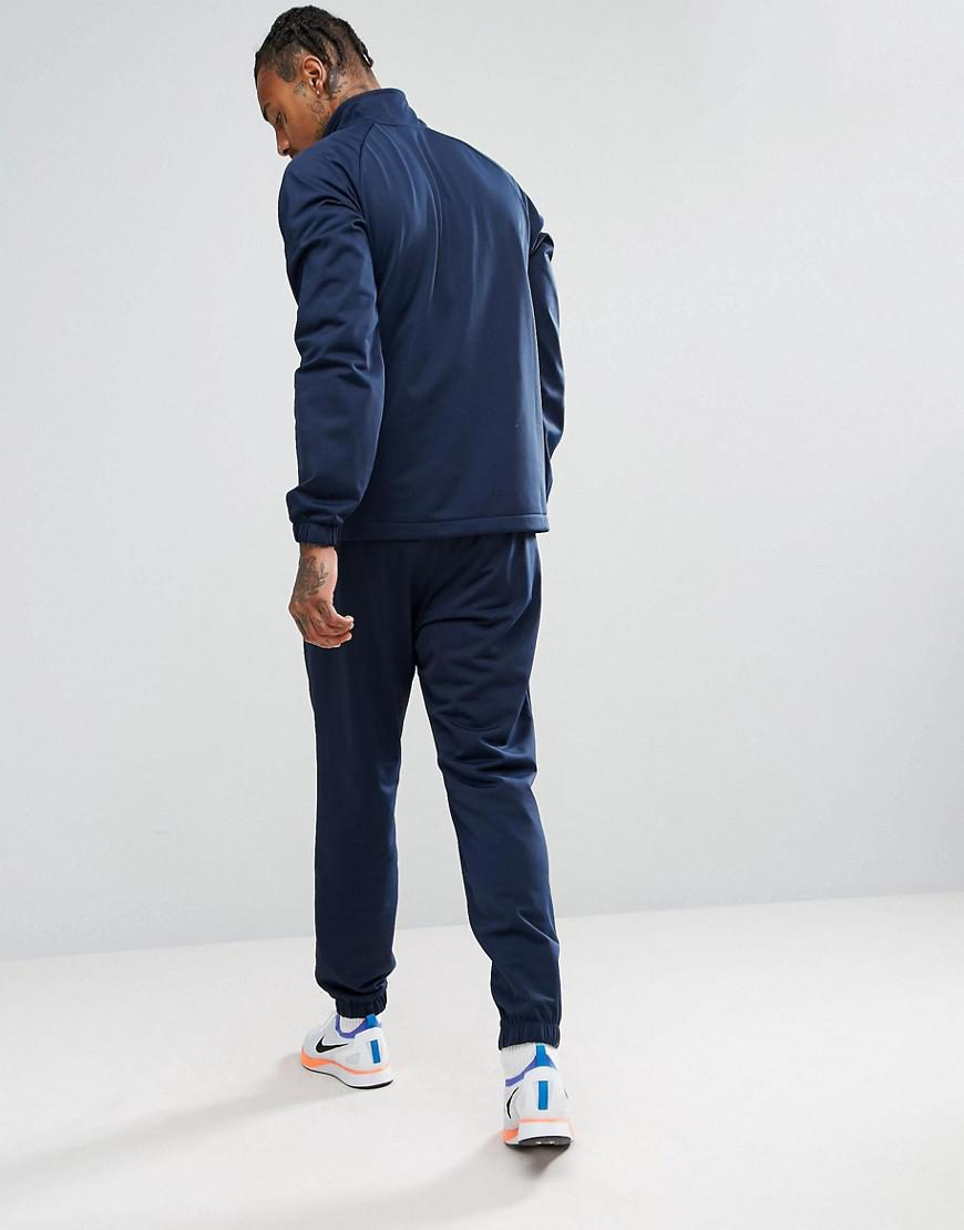 328cbb26b5 Nike Polyknit Tracksuit Set In Navy 861780-451 in Blue for Men - Lyst