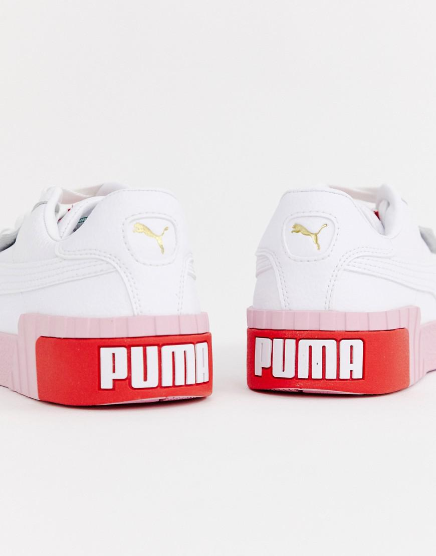 online store variety of designs and colors sports shoes Cali White And Pink Trainers