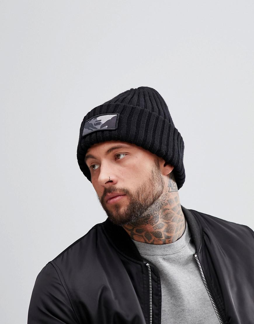 Xemy Logo Beanie - Black G-Star G6pS8w