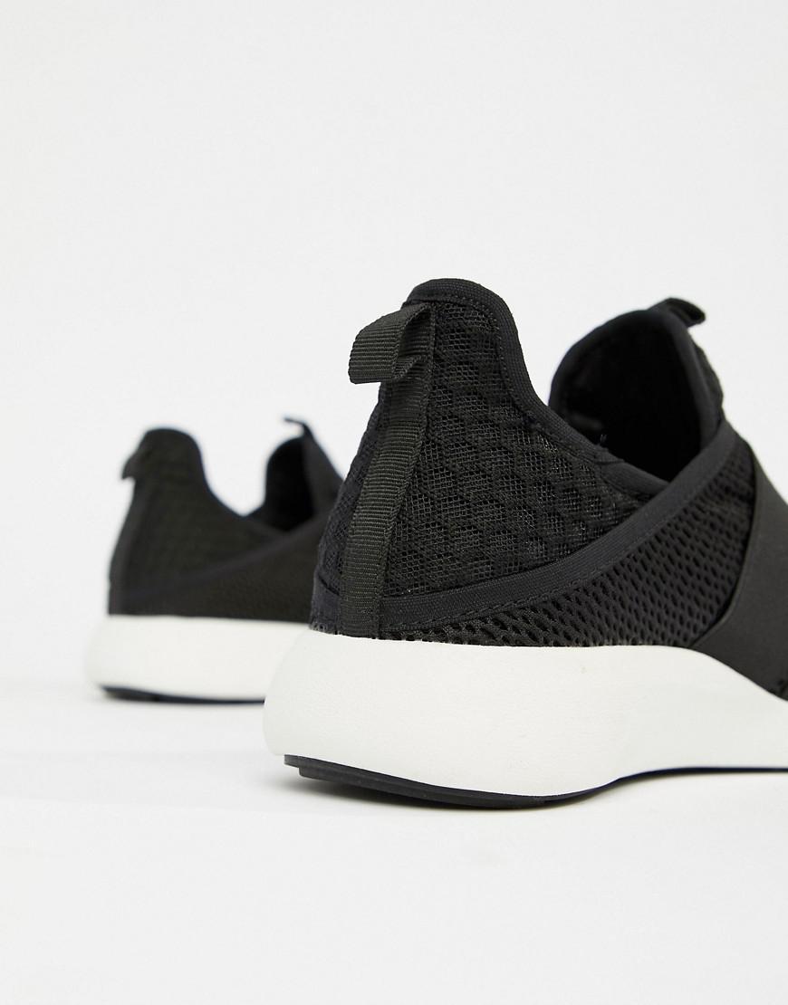 ALDO Leather Knitted Runner Sneakers in Black