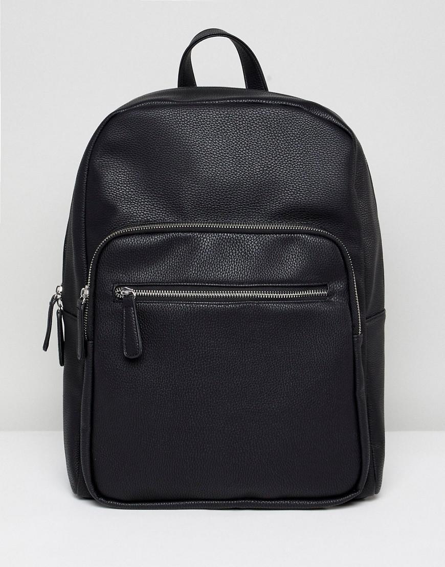 Lyst - Stradivarius Backpack With Front Zip Pocket In Black In Black For Men