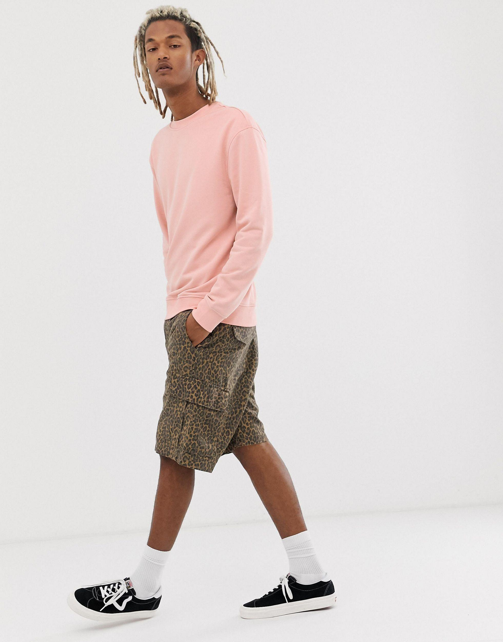 New Look Katoen Sweater Met Verlaagde Schouders in het Roze voor heren