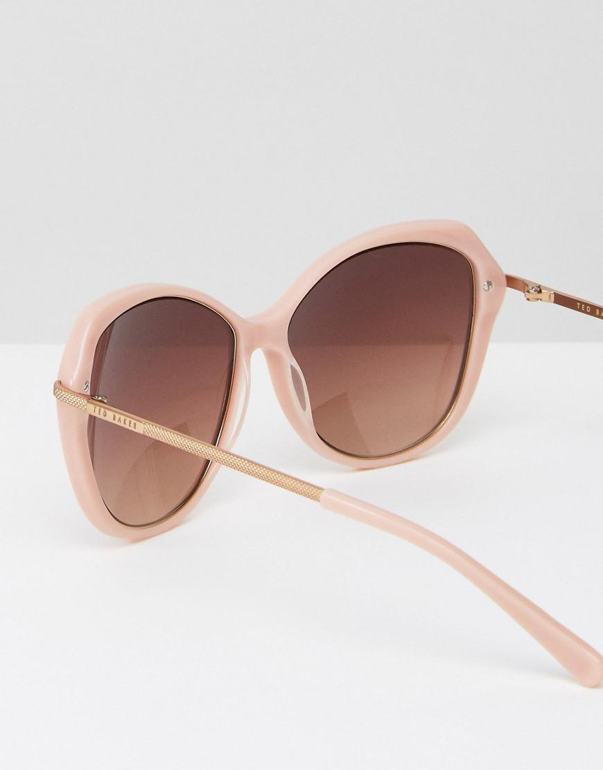 e259296c152 Ted Baker Lilla Cat Eye Sunglasses In Pink in Pink - Lyst