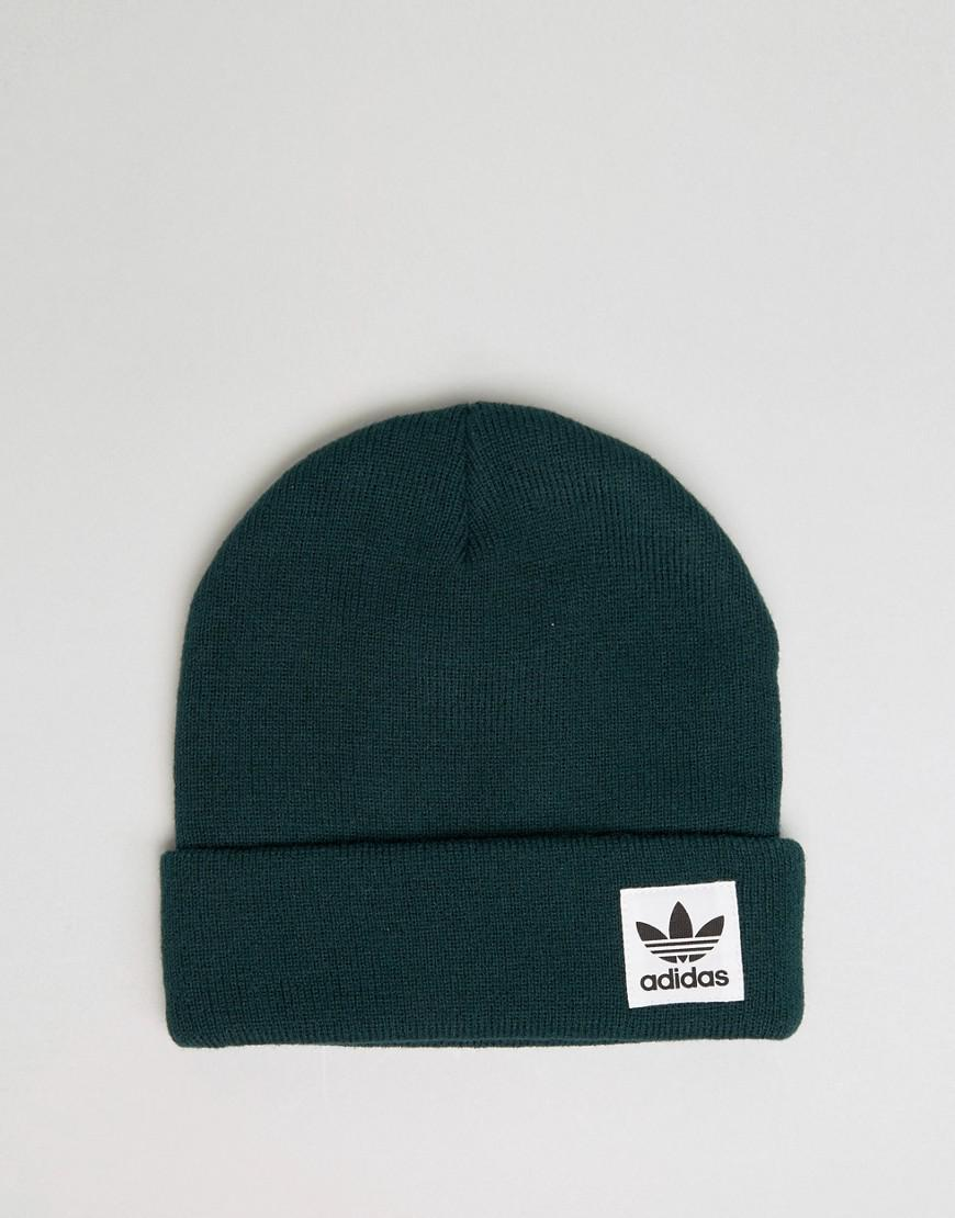 f94bfe3e9 adidas Originals High Beanie In Green Br2760 for Men - Lyst