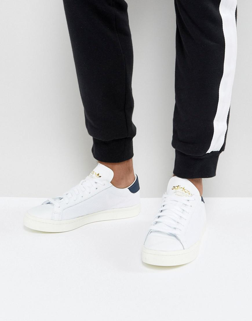 Adidas originali corte vantage scarpe bianche bz0427 in bianco