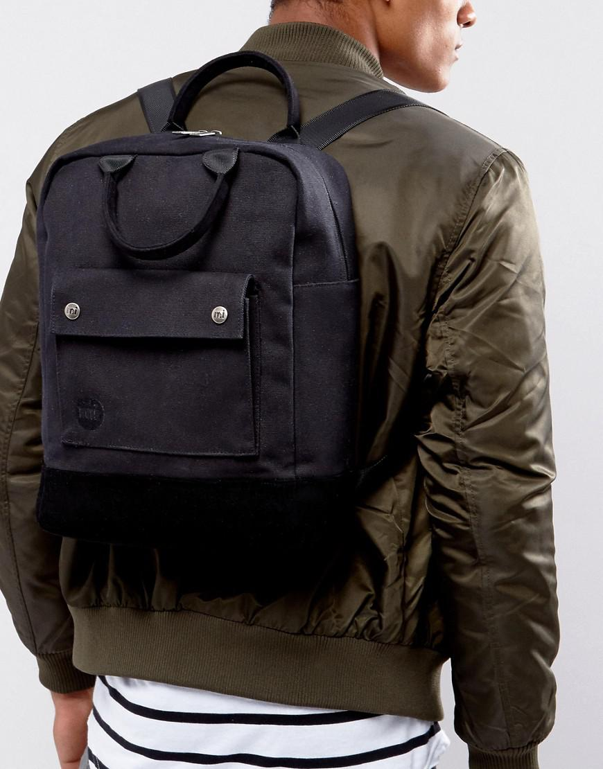 Mi Pac Canvas Tote Backpack In Black
