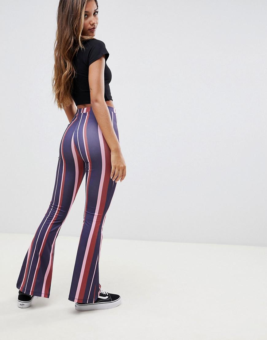 0ec0b86f9dae8 ASOS Kick Flare leggings In 70s Stripe - Lyst