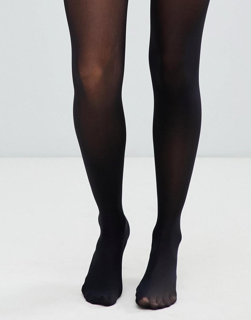 9b7feadda ASOS Recycled 40 Denier Tights With Bum Tum Thigh Support in Black ...