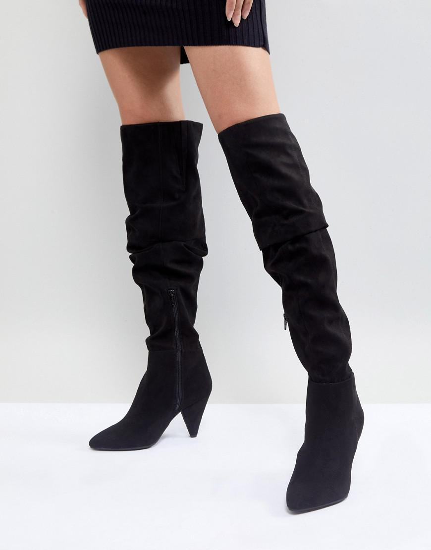 Miss Selfridge Over The Knee Patent Boot