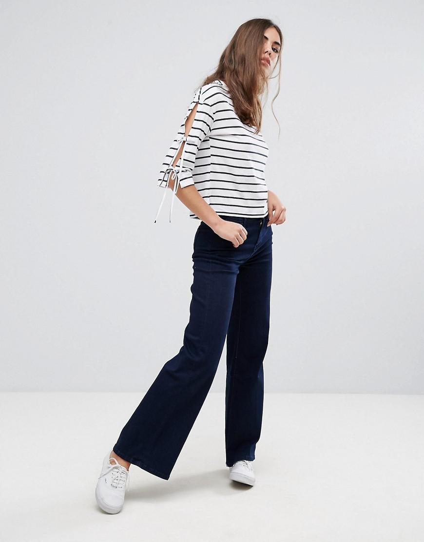 Pepe Jeans Denim Leggy Flared Jeans in Blue