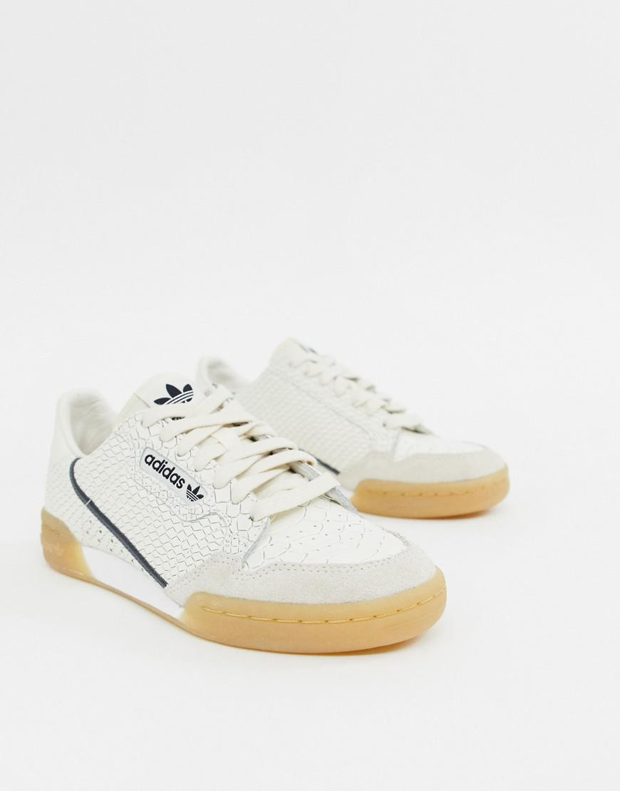 adidas Originals. Women s Continental 80 Sneakers In White Snakeskin With  ... fcec373c5
