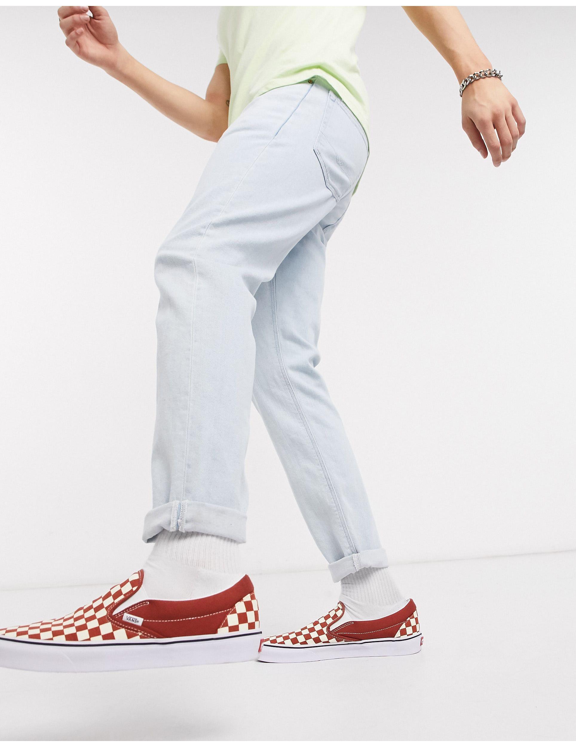 ASOS Denim Smalle Stretch Jeans in het Blauw voor heren
