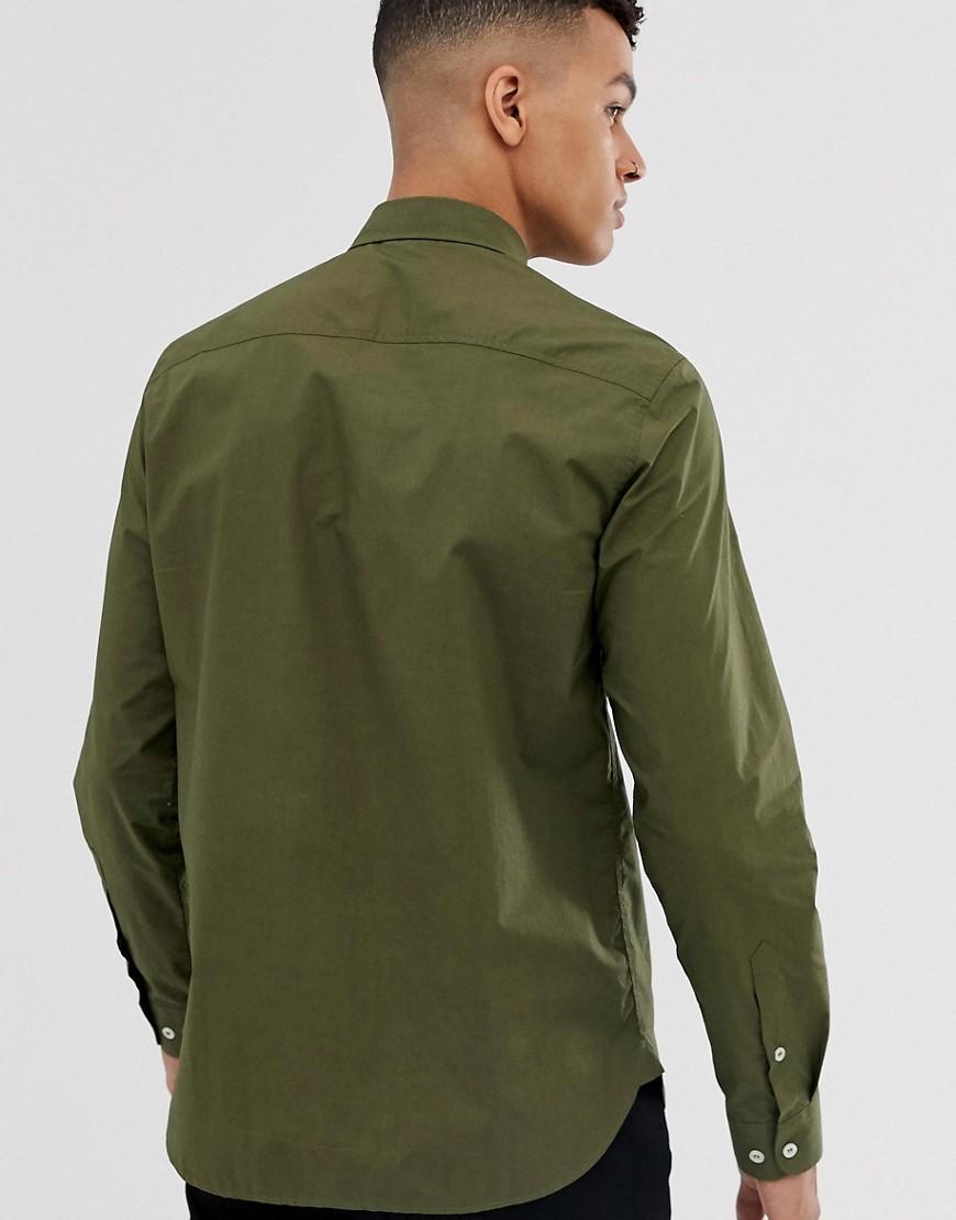 Love Moschino Katoen Overhemd Met Lange Mouwen in het Groen voor heren